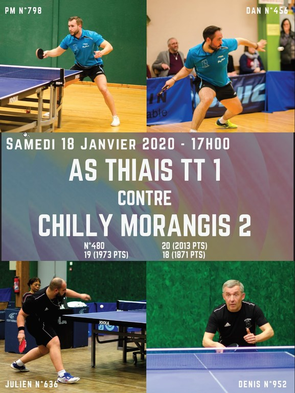 AS Thiais TT1 rencontre Chilly Morangis 2